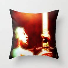 AC/DC Angus Young Throw Pillow