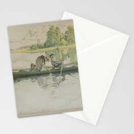 A litographic print after CARL LARSSON by V. Jernberg Lit., mid 20th Century. Stationery Cards