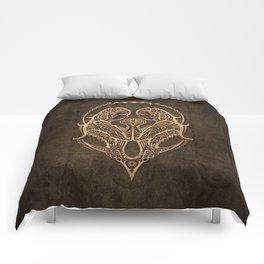Vintage Rustic Gemini Zodiac Sign Comforters