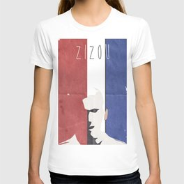 Zinedine Zidane, minimal portrait, Zizou, illustration, french football player, soccer, ballon d'or T-shirt