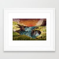 ruben ireland Framed Art Prints featuring Ireland by Taylor Rose