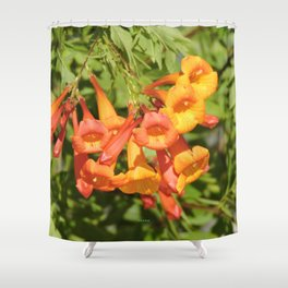 Natural Brass Blowing In The Breeze Shower Curtain
