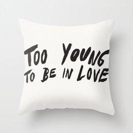 Young Unlover Throw Pillow