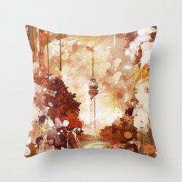Beograd - Avala - Grafika Throw Pillow
