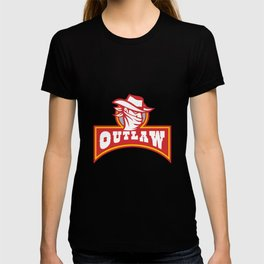Bandit With Outlaw Text Retro T-shirt