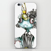 frog iPhone & iPod Skins featuring frog by krigkou petroula