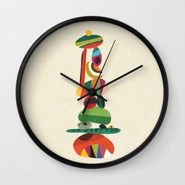 Totem - balanced pebbles Wall Clock