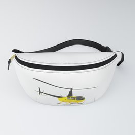Light Black and Yellow Helicopter Fanny Pack