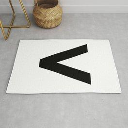 Less-Than Sign (Black & White) Rug