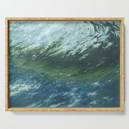 Cresting Wave Serving Tray