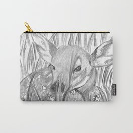 Fawn in grass Carry-All Pouch