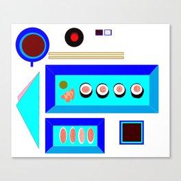 A Sushi Dinner with Tea Canvas Print