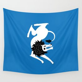 Dancing Beasts: Lion Wall Tapestry