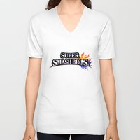 super smash bros V-neck T-shirts featuring Super Smash Bros by Hisham Al Riyami