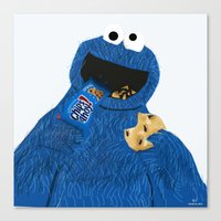 cookie monster Canvas Prints featuring Cookie Monster by Dano77