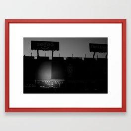 Green Monster - PearlJam - Fenway (Black & White) Framed Art Print