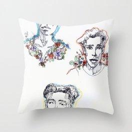 flower boys Throw Pillow