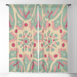 Mandala Faded Watermelon Blackout Curtain