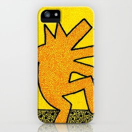 Keith Haring Dancing Dog iPhone Case