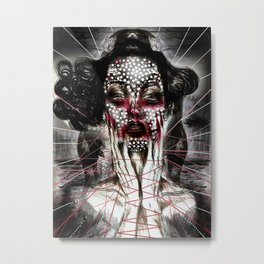 Black Siren Metal Print
