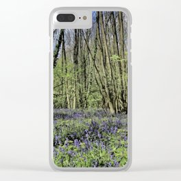 Everdon Stubbs Wood Bluebells Clear iPhone Case