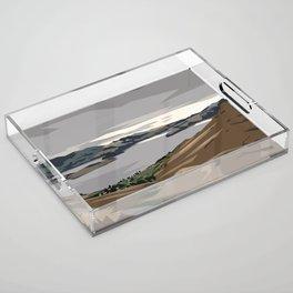 Cass Bay, New Zealand Acrylic Tray