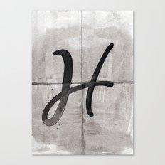 - H - Canvas Print