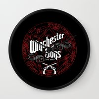 winchester Wall Clocks featuring Winchester & Sons by Manny Peters Art & Design