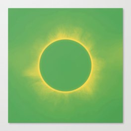 Solar Eclipse in Stormy Sky Color Canvas Print