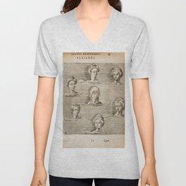 Hugo de Groot's Syntagma Arateorum 1600 - 19 Pleiades Unisex V-Neck