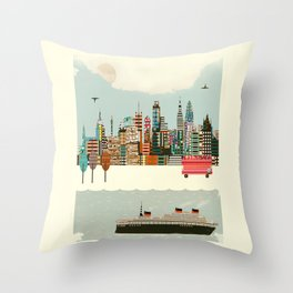 visit london city Throw Pillow