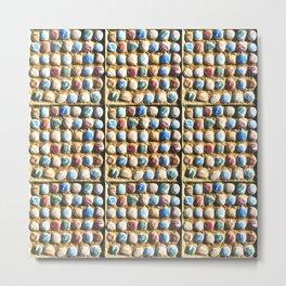 Painted Pebbles Metal Print