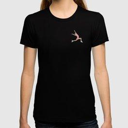 Girl in pink dress. Figure skater T-shirt