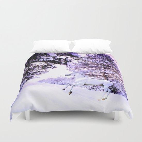snow beauty Duvet Cover