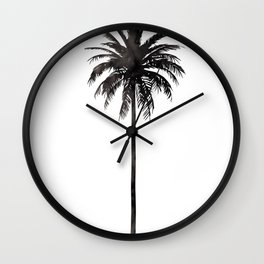 Watercolor Palm Tree Wall Clock