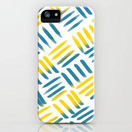 Blue Yellow Stitch iPhone Case