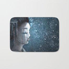 Geisha in Snow: The Stoic Concubine Bath Mat