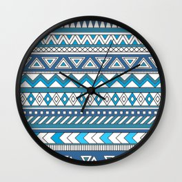 Pattern's of Calm line Wall Clock
