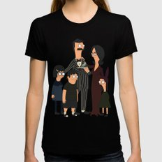 Addams Family Burgers Womens Fitted Tee Black MEDIUM