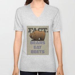 Bears Eat Beets Unisex V-Neck