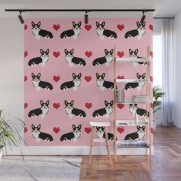 Corgi tri colored welsh corgi dog person corgis love valentines day gifts for dog person Wall Mural