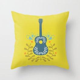 Fancy folk guitar Throw Pillow