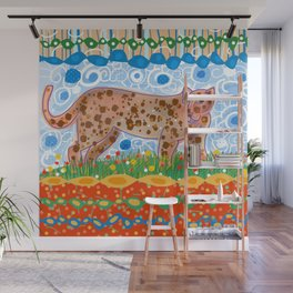 Leopard in the grass Wall Mural