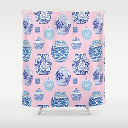 Chinoiserie Ginger Jar Collection No.7 Shower Curtain