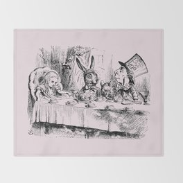 Blush pink - mad hatter's tea party Throw Blanket