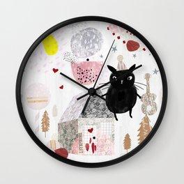 Birthday Cat Wall Clock