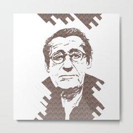 Helmut Newton Stencil Pattern Metal Print