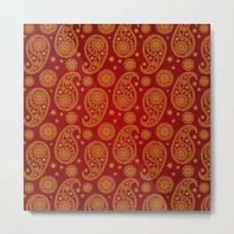beautiful eastern pattern (paisley seamless) Metal Print