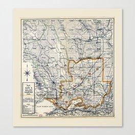 Map of Napa & Solano Counties, California (1913) Canvas Print