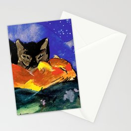 Franz Marc - Two Cats, postcard from Sindelsdorf to Lily Klee Munich Stationery Cards